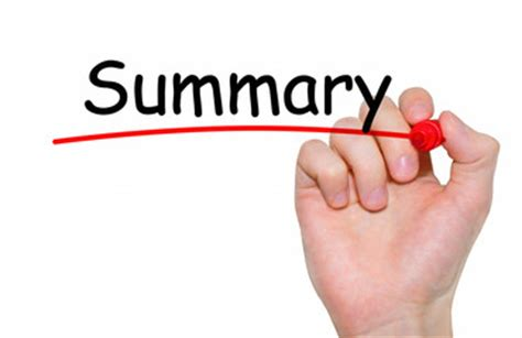 Sample summary conclusions thesis